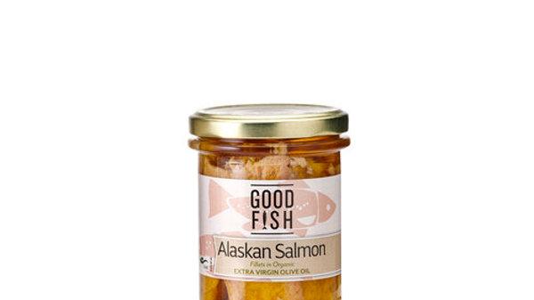 Good Fish Alaskan Salmon 195g glass jar