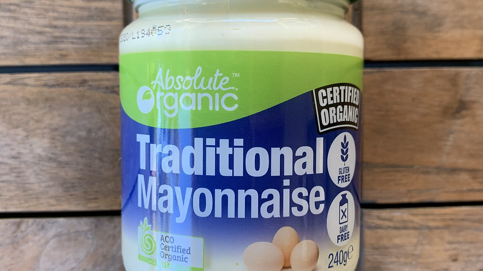 Mayonnaise Traditional 250g Absolute Organic ACO