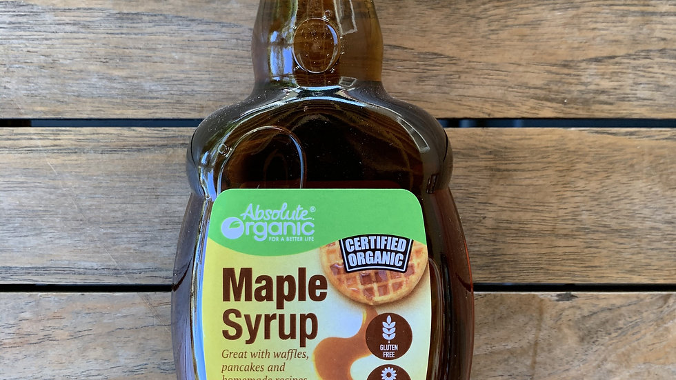 Maple Syrup Pure 250ml Absolute Organic ACO