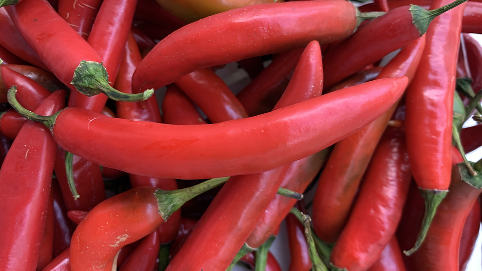 Red Chillies - Certified Organic - 100gm