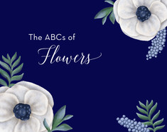 The ABCs of Flowers Book