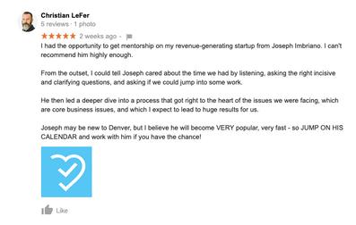 Christian LeFer | Testimonial Joseph Imb