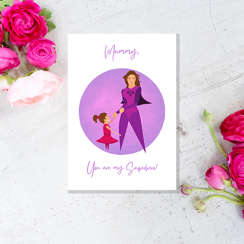 Mothers Day Superhero Cards