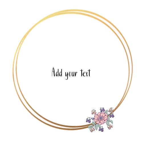 Gold + Flower & Butterflies Logo Background