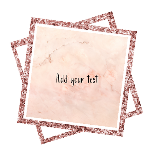 Pink Marble + Rose Gold Glitter Logo Background
