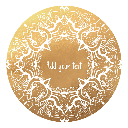 Gold + White Logo Background