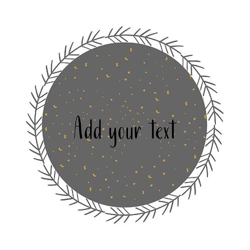 Grey + Feather Logo Background