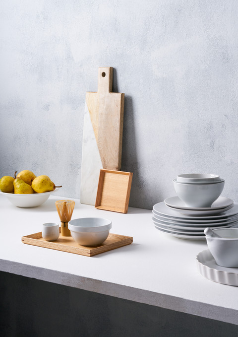 Modern clean line white commercial shoot kitchen ware
