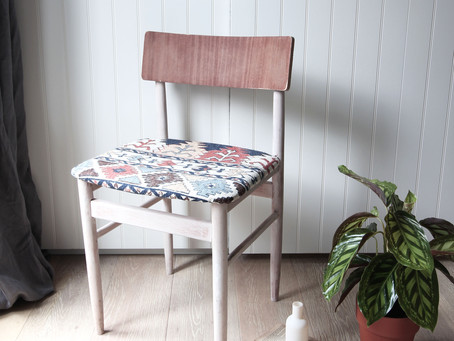 DIY project: How to whitewash and re-upholster an old/found chair
