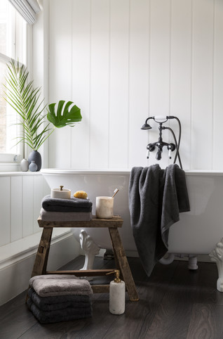 Bathroom shoot. Black and white