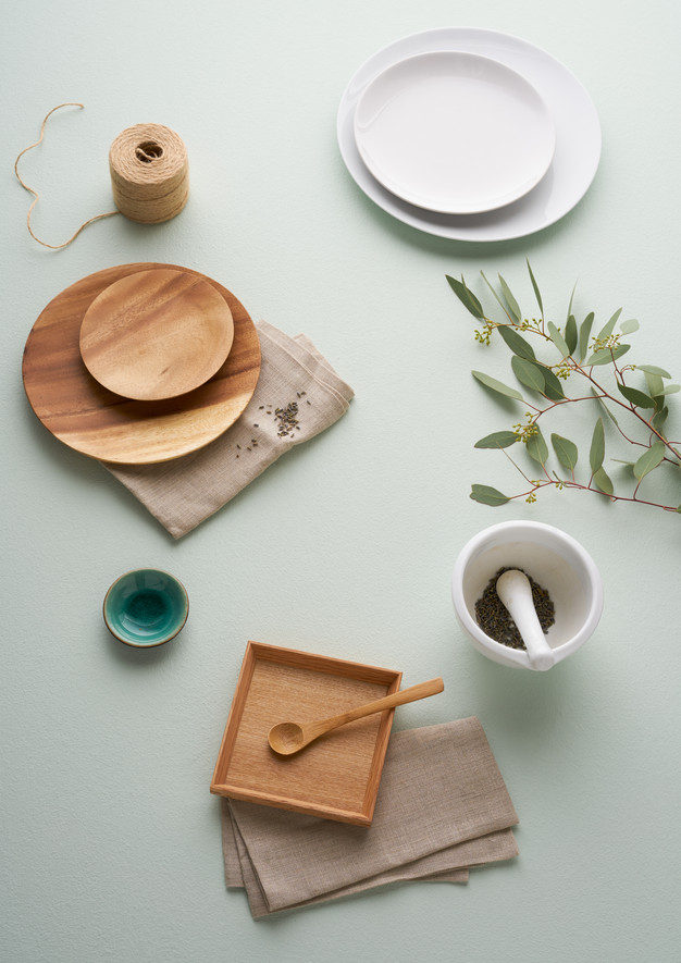 Summery Flatlay kitchen and dining