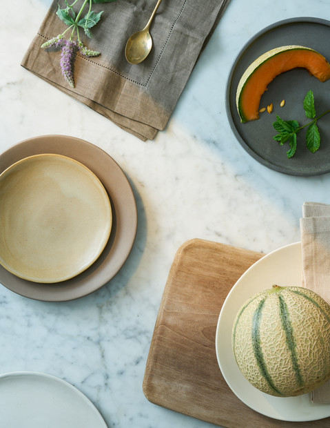 Summer melon dining table