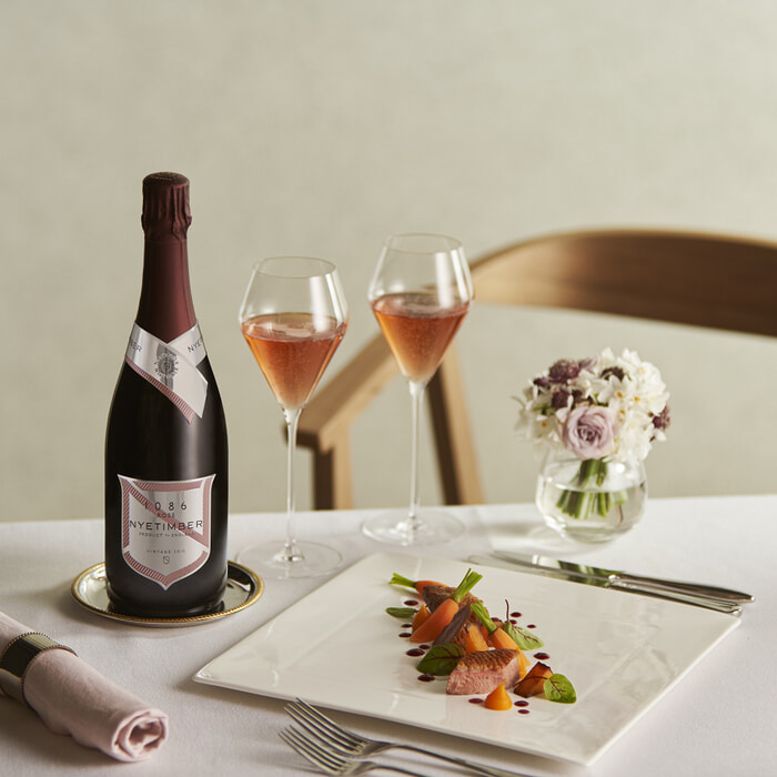 Nyetimber food and prop styling