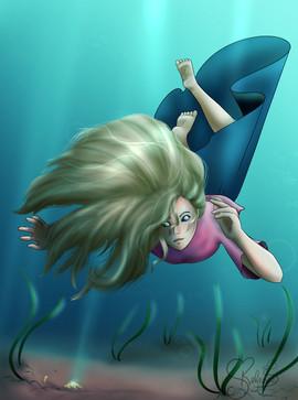 Olivia swimming