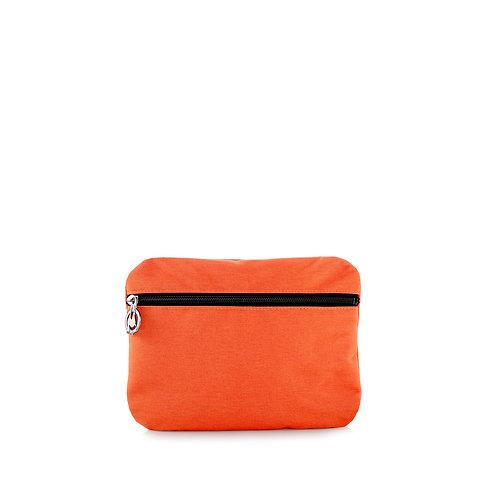 Pochette 24 cm Orange/Tabac