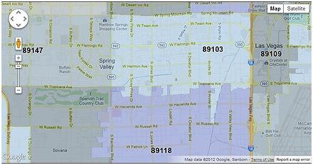 Las Vegas Zip Code Las Vegas Map