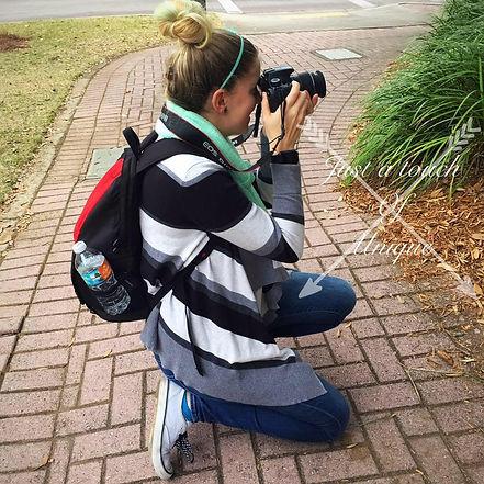Photographer taking Christmas mini photos