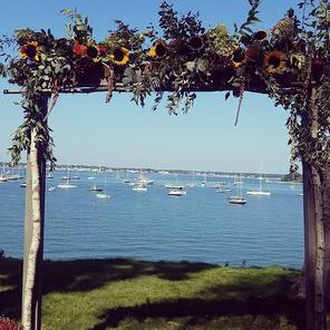 Ceremonies overlooking the Harbor