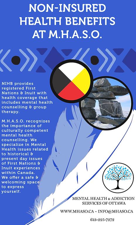MHASO, Mental Health and Addiction Services of Ottawa, NIHB, Non-Insured Health Benefits