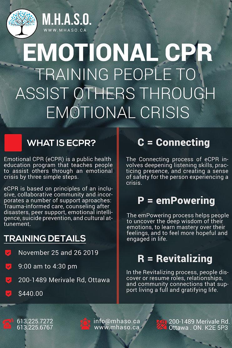 MHASO, Mental Health and Addiction Servies of Ottawa, Emotional CPR Ottawa, ECPR