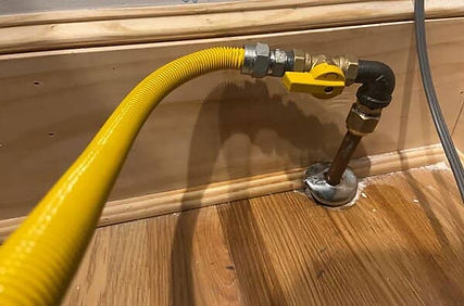 gas line installation for stove concord nc