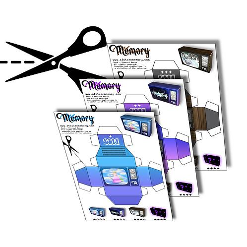 TV Paper Craft (3 set)