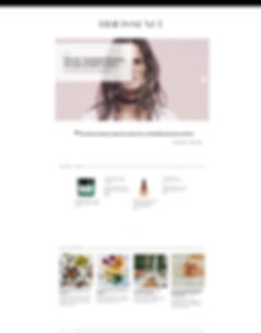 webzine website beauté tendance premium wellness yoga food healthy