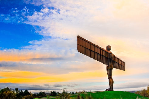 The angel of the north a steel sculpture