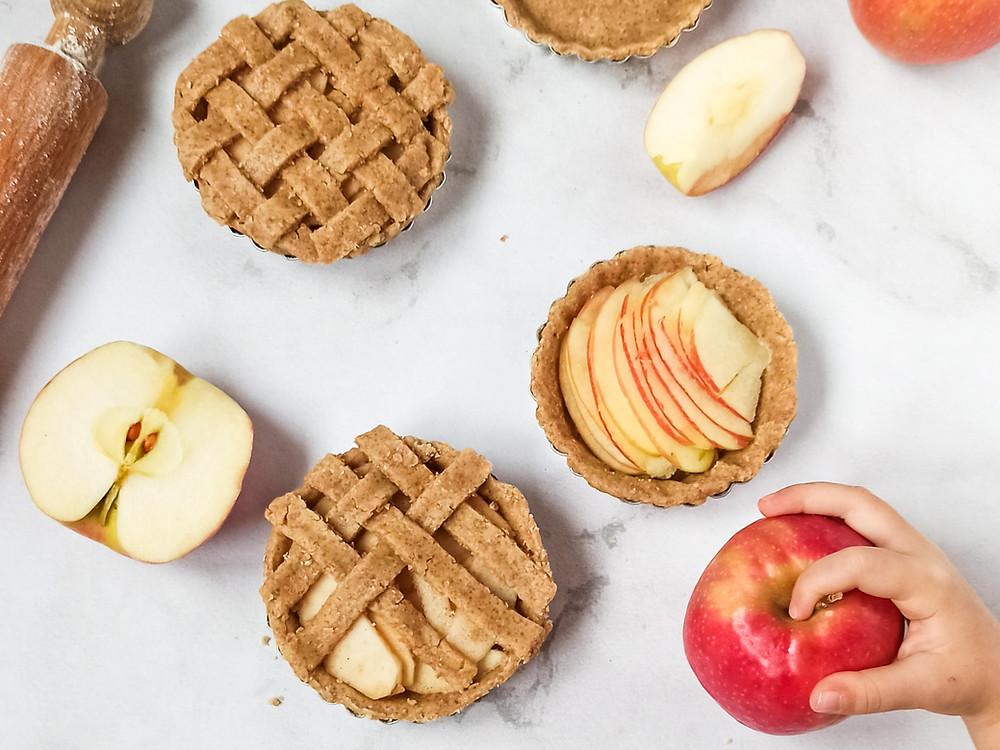 Crostatine integrali di mele