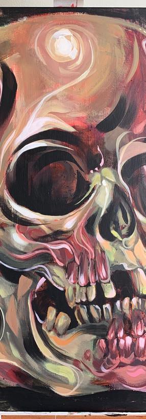 Swirling skull
