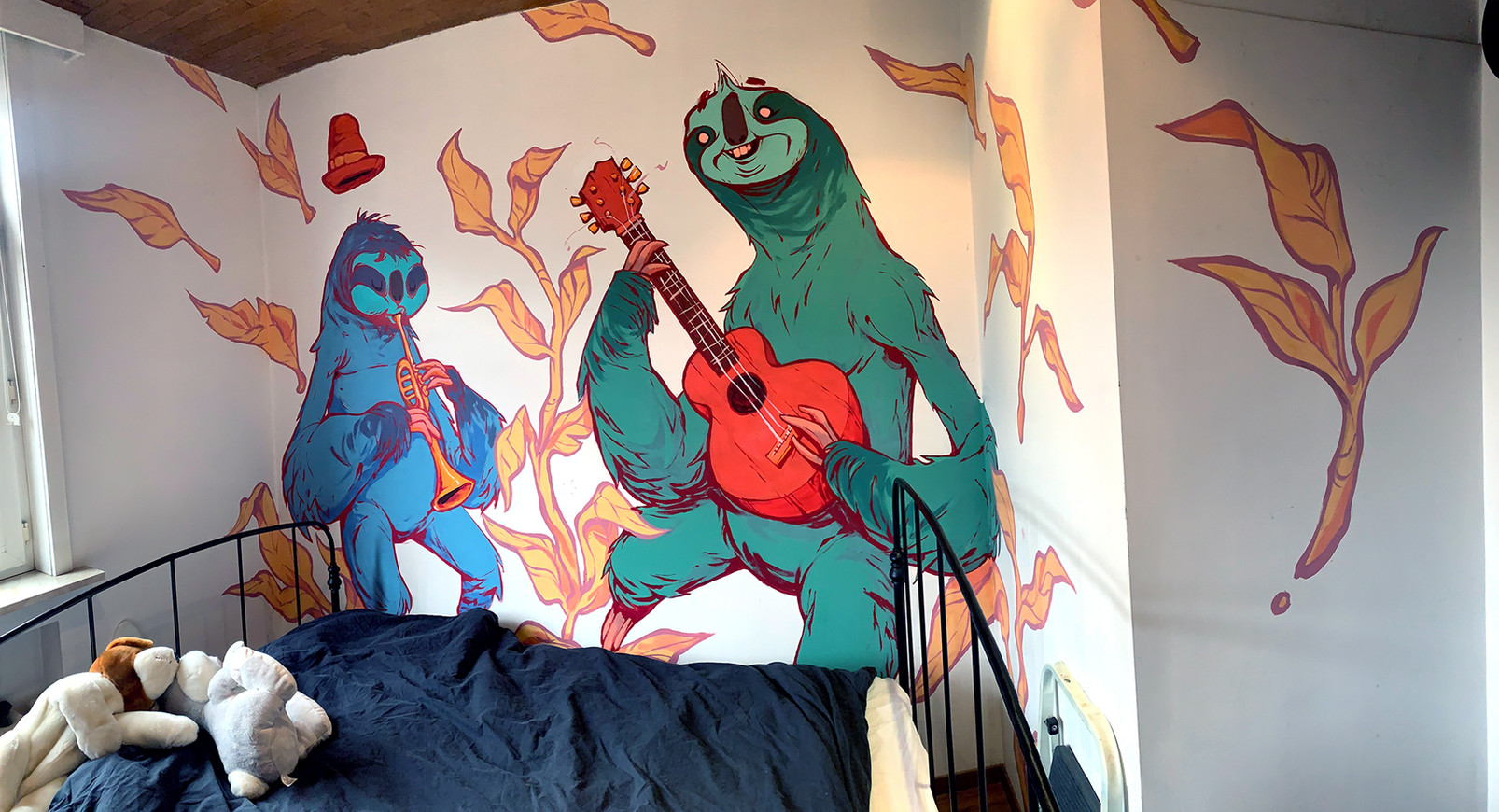 Sloths, music and skateboards.