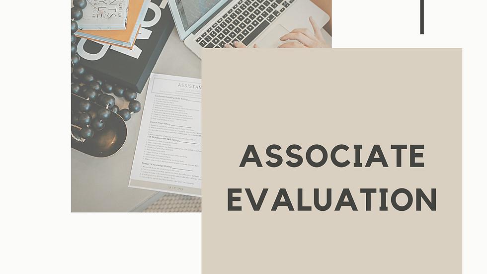 Associate Evaluation