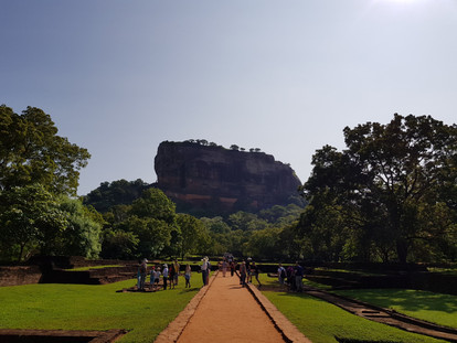 Sigiriya Rock, also known as Lion Rock