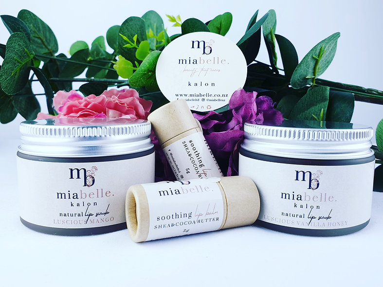 Natural lip scrub and lip balm bundle