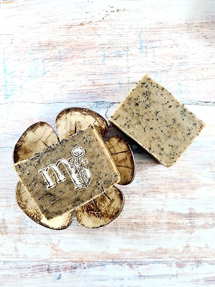 Coffee scrub soap with cinammon vanilla