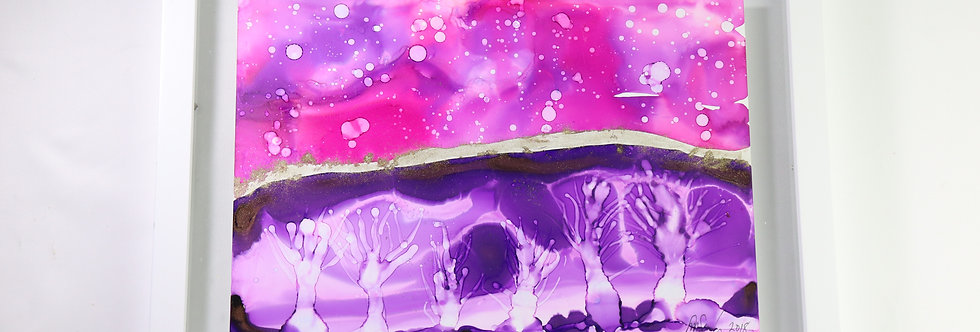 Purple trees abstract (SOLD)