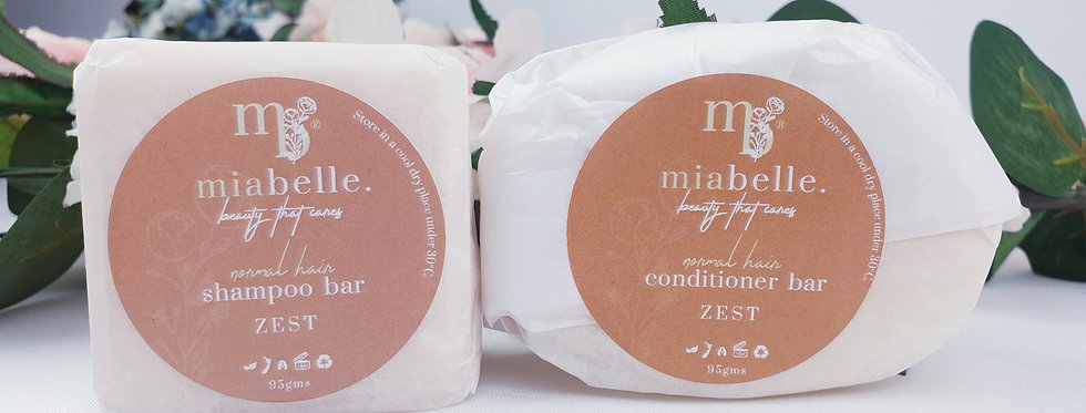 ZEST shampoo and conditioner bar