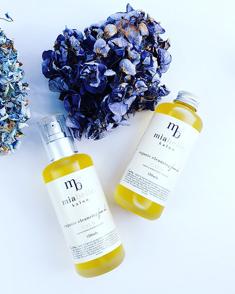 Organic cleansing face oil