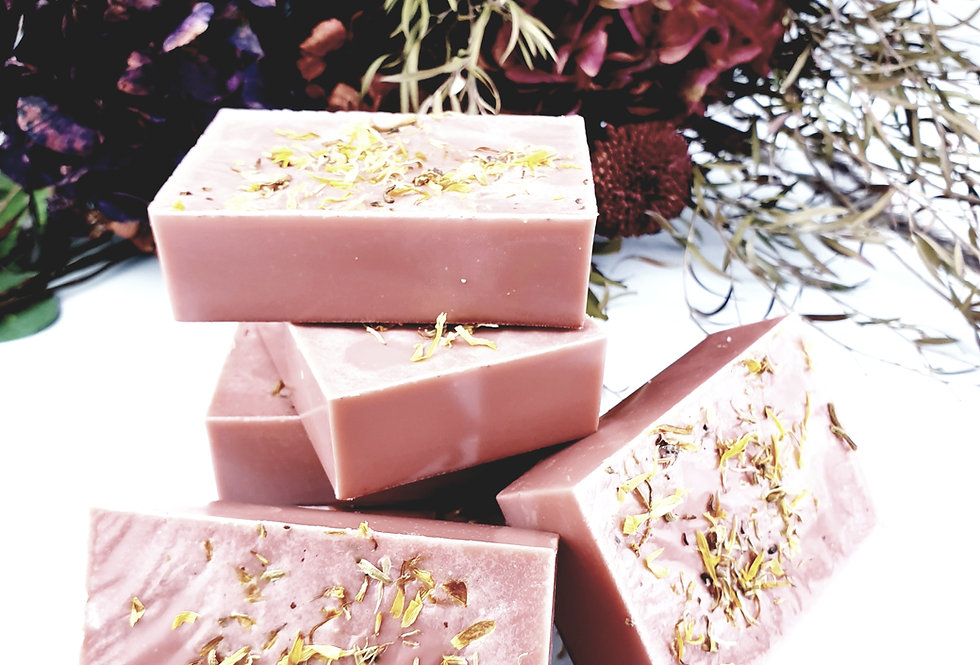 Beloved body soap with pink clay