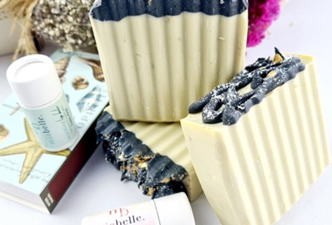 Olive oil and activated charcoal soap
