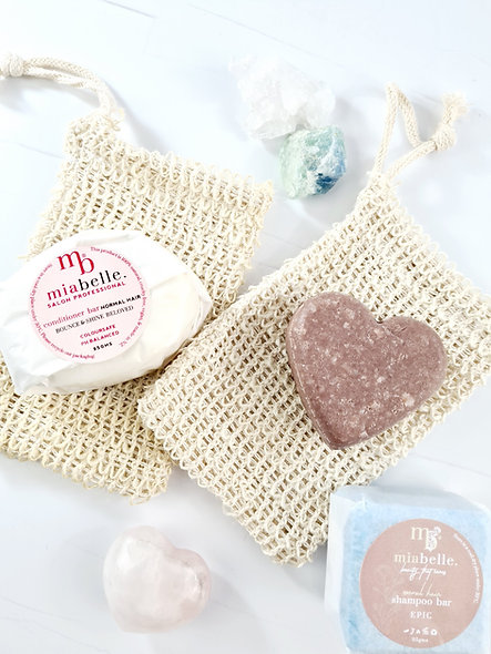 Sisal cotton soap bag