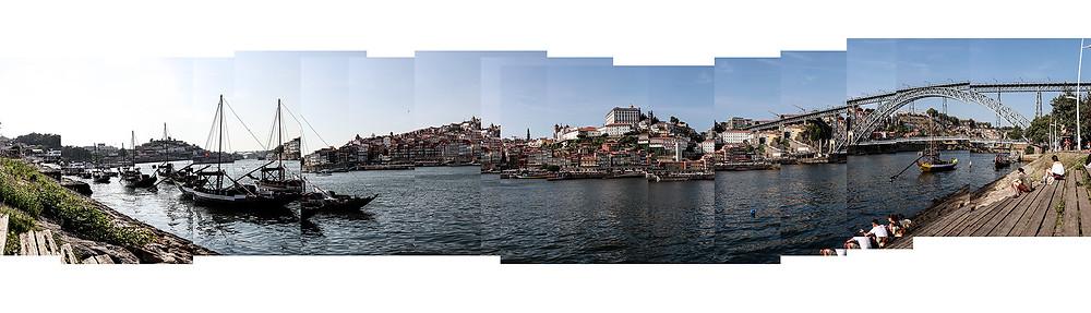 Panoramica compuesta de la Ribera del Rio Douro