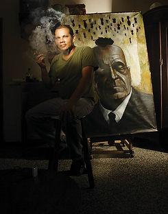 fotografia de retrato editorial por dondyk riga estudio creativo madrid elvis rosendo para revista tendencia