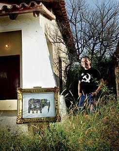 fotografia de retrato editorial por dondyk riga estudio creativo madrid manuel hernandez pintor para revista tendencia