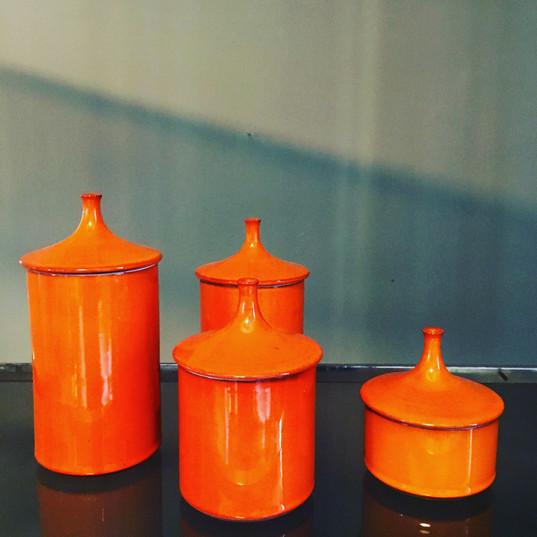 Color block orange Maison Close