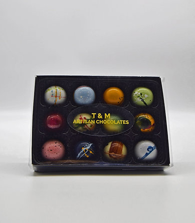Signature box - 12 Luxury, hand crafted Artisan Chocolates