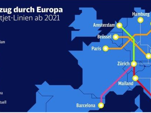 A network of night trains will connect 13 European cities, including Barcelona
