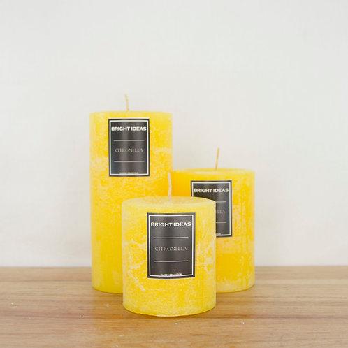 """Classic Citronella Scented Pillar (Standard: 3"""" dia)"""