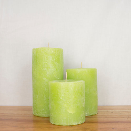 "Classic Lime Scented Pillar (Standard: 3"" dia)"
