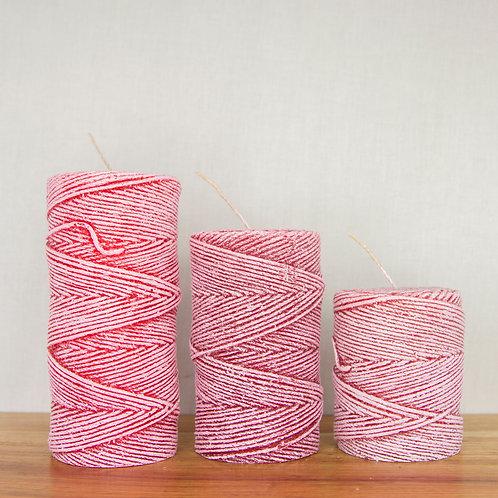 Yarn Pillar in Red